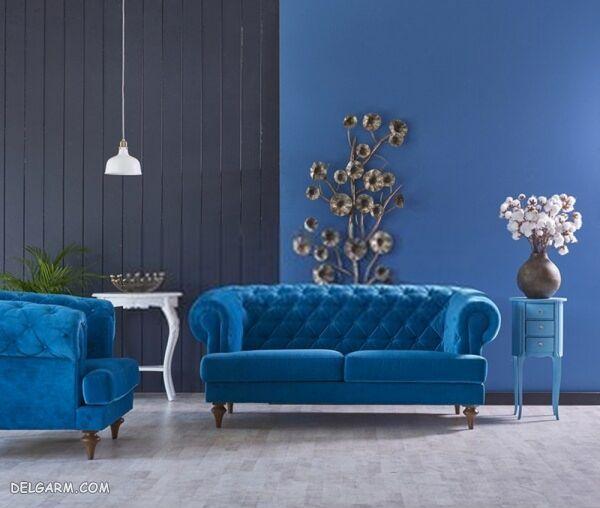 دکوراسیون منزل با رنگ آبی کلاسیک