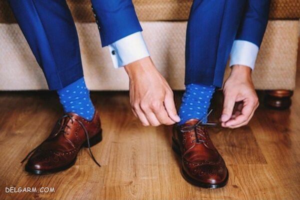لباس مردانه با رنگ آبی کلاسیک