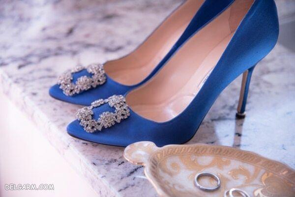 کفش زنانه به رنگ آبی کلاسیک