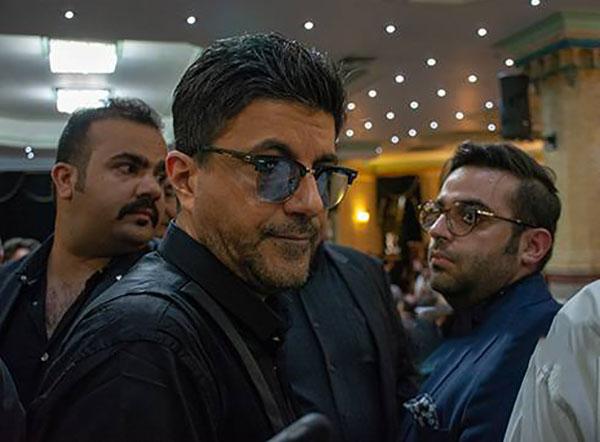سامان خواننده لس آنجلسی در مراسم ناصر ملک مطیعی