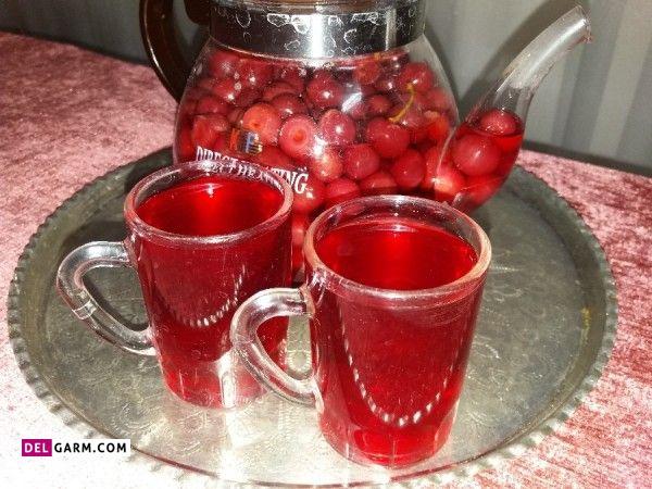 طز تهیه چای آلبالو