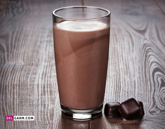 طرز تهیه شیر کاکائو