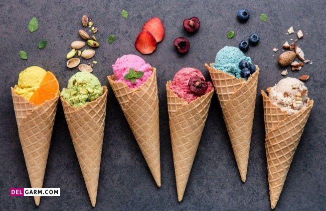 بستنی های کافی شاپ