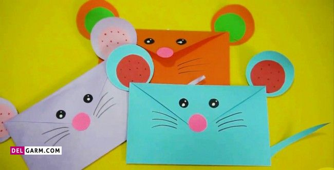 تزیین پاکت نامه کودکانه