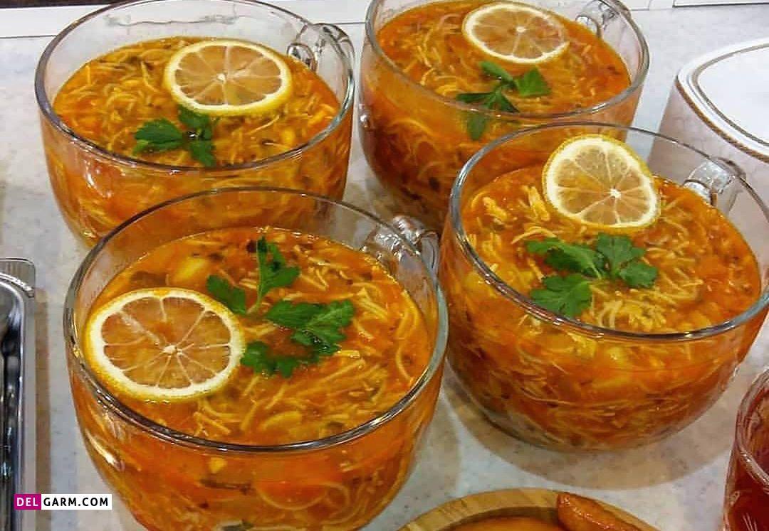 تزیین سوپ