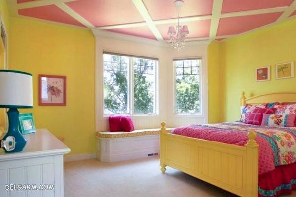 دیزاین اتاق خواب/تزیین اتاق کودک دختر با وسایل ساده
