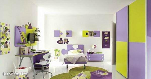 دکوراسیون اتاق دخترانه/مدل پرده اتاق خواب دخترانه