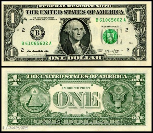 عکس روی 50 دلاری/عکس مخفی روی دلار