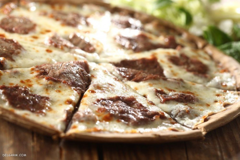 سس پیتزا استیک/پیتزا با گوشت ریش ریش