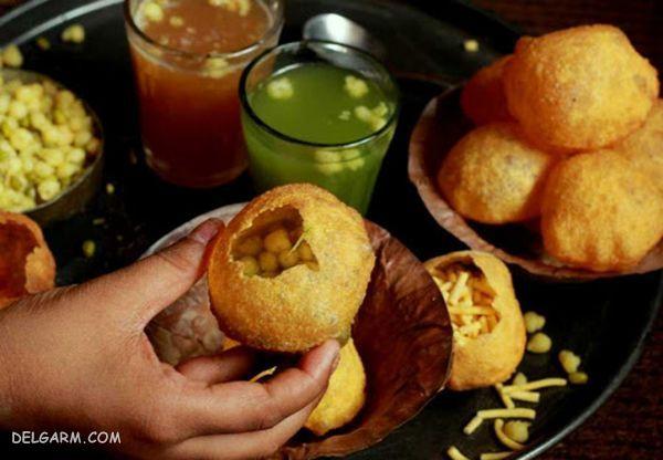 پانی پوری هندی/پانی پوری غذای هندی