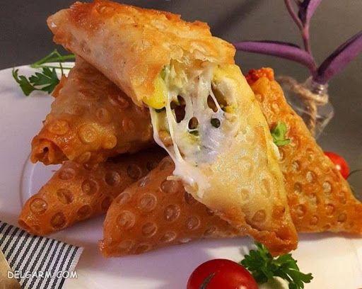 طرز پخت سمبوسه پنیری/دستور سمبوسه پنیری