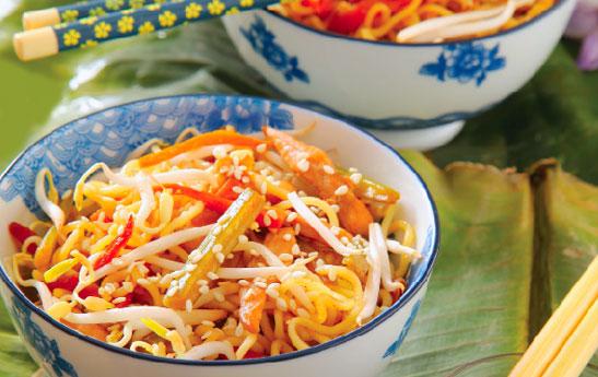 طرز تهیه غذای چینی با سبزیجات