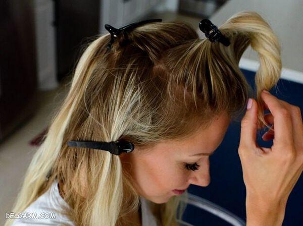 طرز رنگ کردن مو در خانه