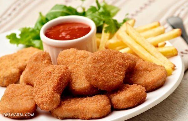 غذا با مرغ در فر