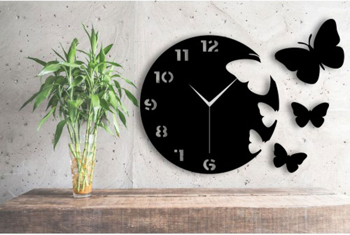 ساعت دیواری مشکی