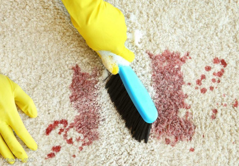 از بین بردن لکه خون از روی فرش