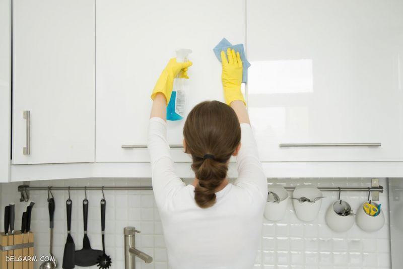 بهترین روش تمیز کردن کابینت