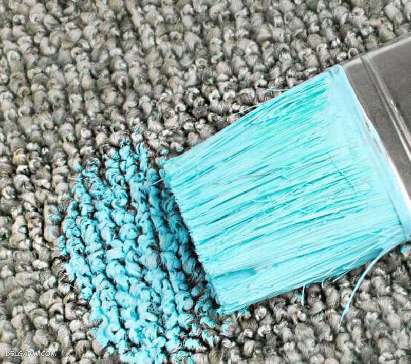 نحوه پاک کردن رنگ پلاستیک از روی فرش