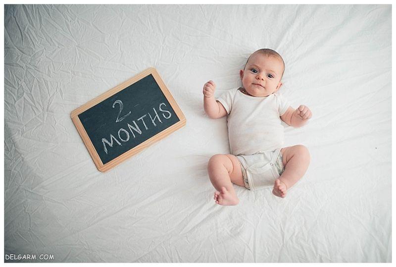 ویژگی های نوزاد دو ماهه