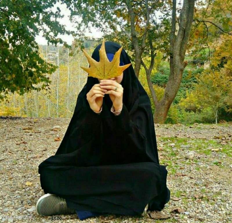 عکس دختر باحجاب از پشت سر