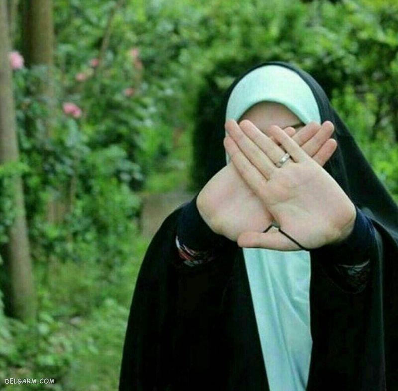 عکس دختر معمولی با حجاب
