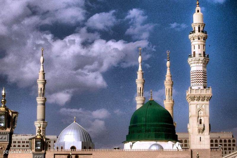 عکس غروب مسجد النبی