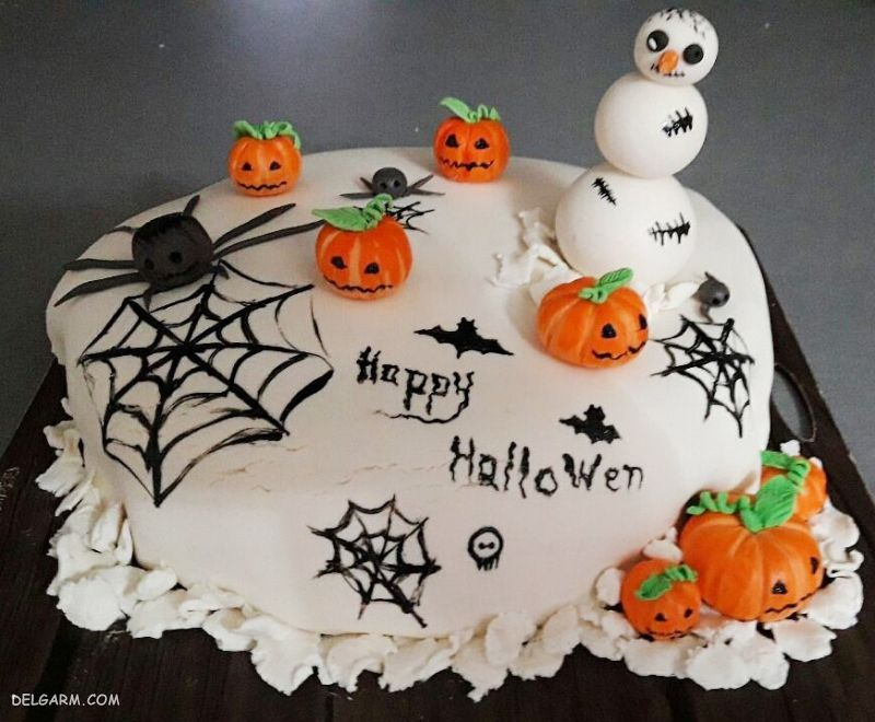کیک هالووین ترسناک