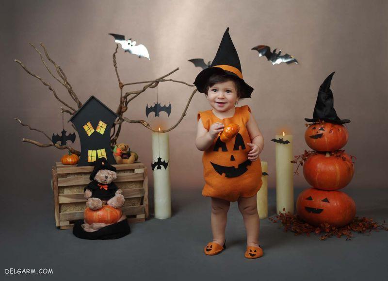 لباس کدو تبل هالووین