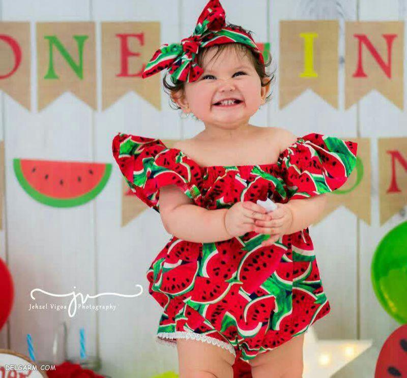 لباس شب یلدا برای نوزاد دختر