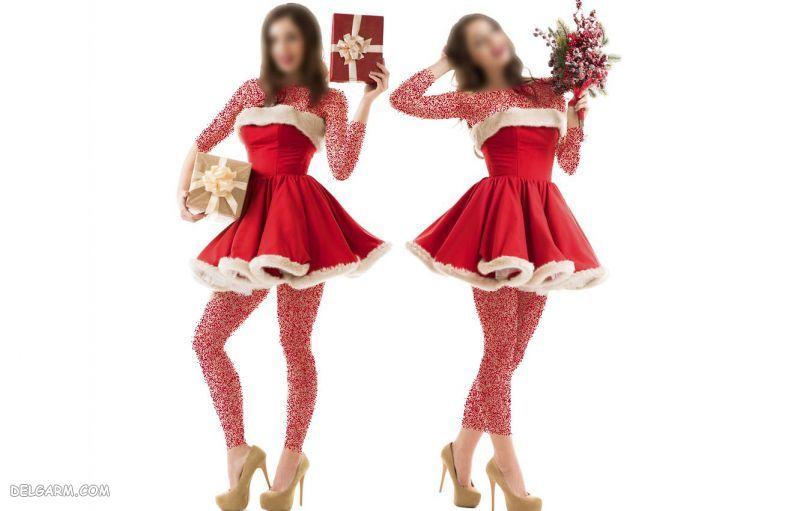 پیراهن دخترانه کریسمس