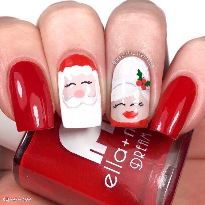 دیزاین ناخن بابانوئل