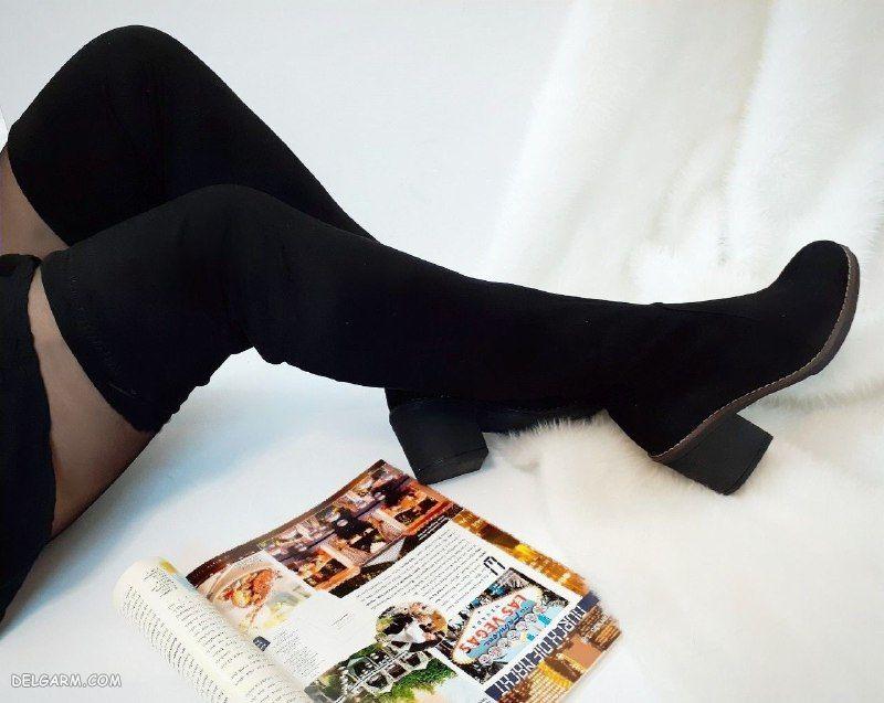 مدل بوت جورابی بلند جدید پاشنه میخی