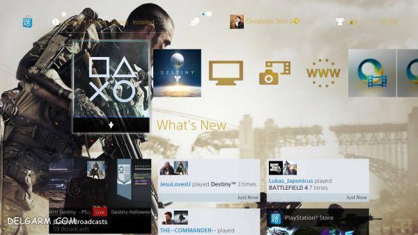 تغییر نمای صفحه اصلی در پلی استیشن 4 (PS4)
