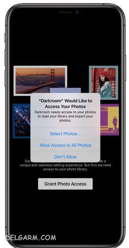 مجوز دسترسی به عکس ها