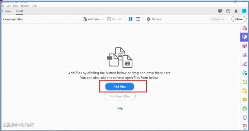 ادغام فایل پی دی اف در ویندوز