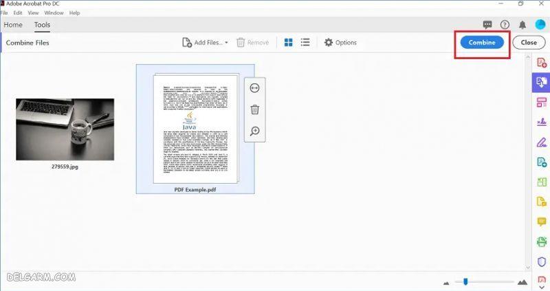 ادغام چند فایل پی دی اف در ویندوز