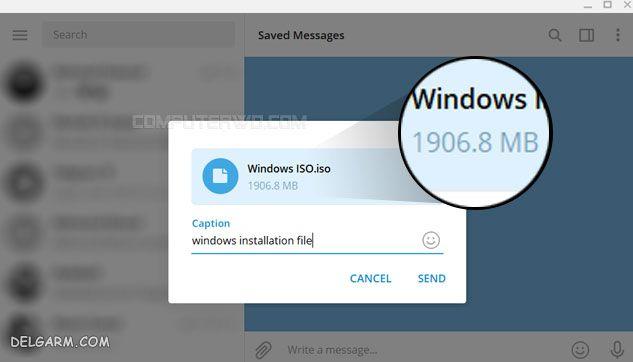 ذخیره فایل ها در تلگرام