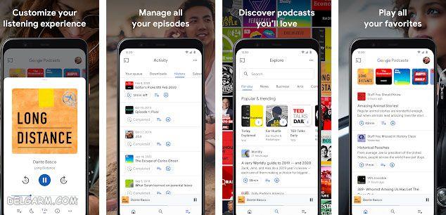 برنامه Google Podcasts