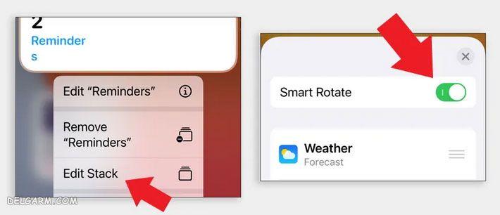 افزودن ویجت در آیفون iOS 14