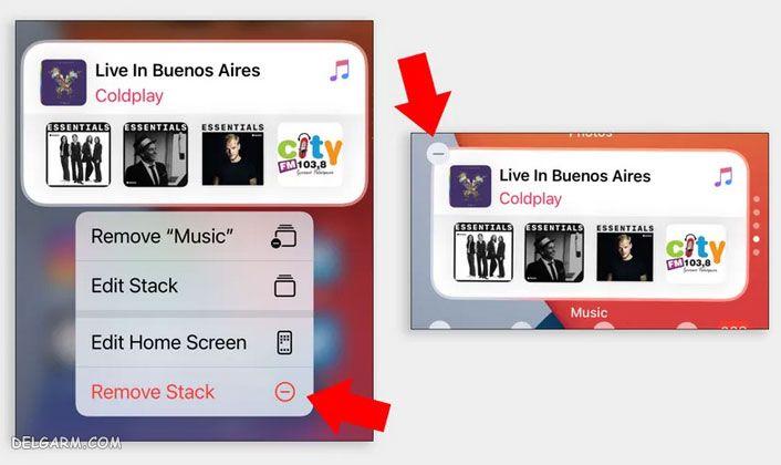 مراحل حذف و اضافه ویجت ها در iOS 14