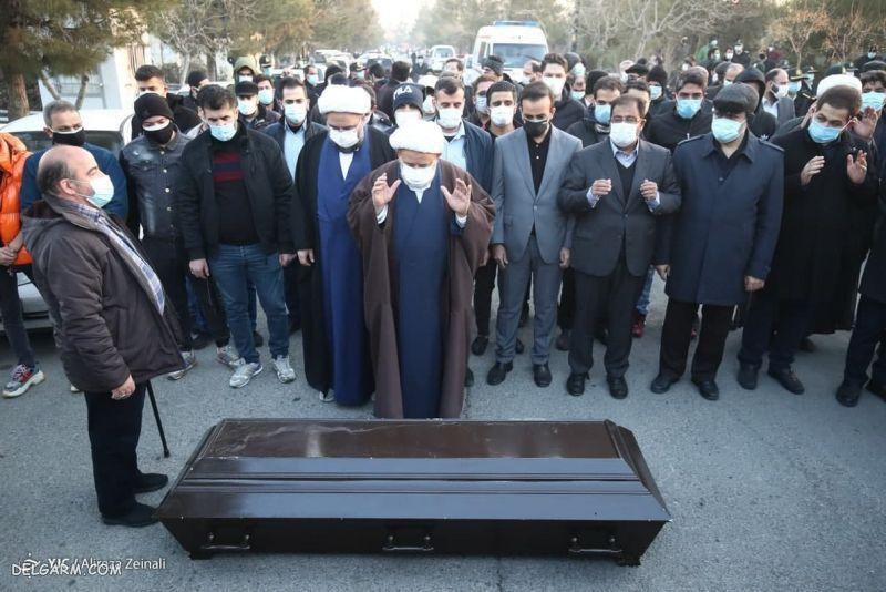 گزارش تصویری  تشییع و خاکسپاری پیکر علی انصاریان