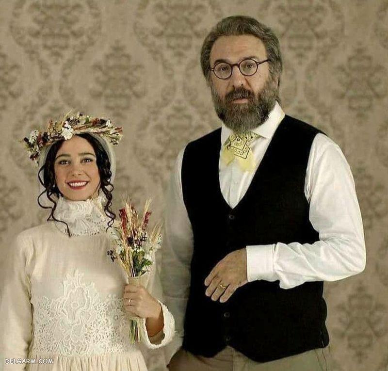 عکس الناز حبیبی با لباس عروس در کنار علی انصاریان