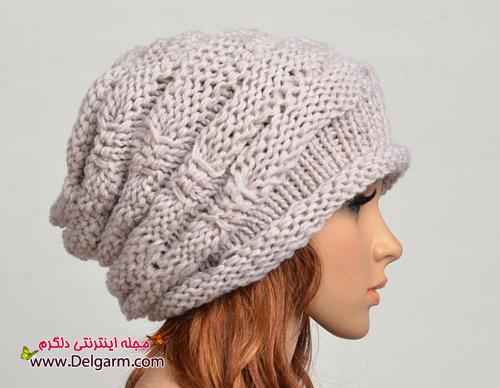 طرز بافت کلاه دخترانه