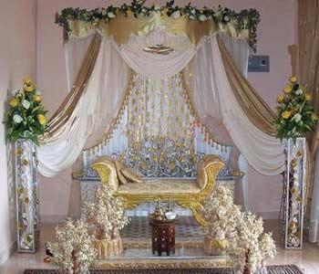 وسایل لازم برای تزیین حنا جایگاه عروس و داماد