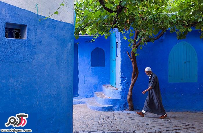 تصاویر خیره کننده شهر آبی در مراکش