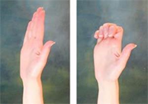 خم کردن انگشت