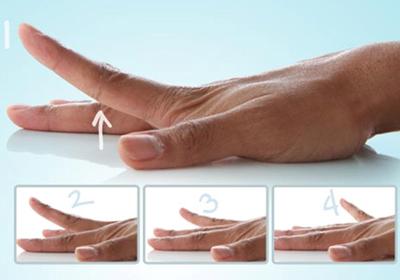 بلند کردن انگشت دست