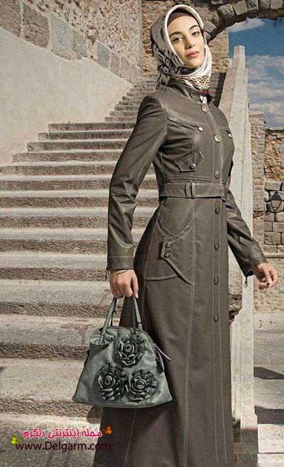 عکسهای زیبا از مدلهای جدیدی از پالتو چرم