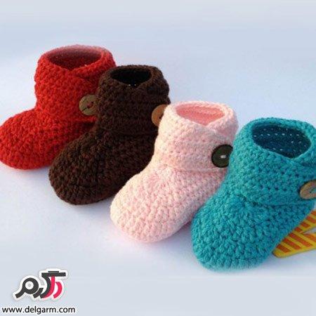 مدل های زیبا از جوراب های بافتنی بچه گانه 2014 - سری اولمدل جوراب بافتنی بچه گانه