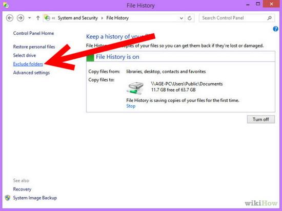 بک آپ گرفتن از اطلاعات در ویندوز 8